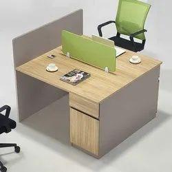 Mdf Grey Two Seater Work Desk, Size: 120 X 60 X 75 Cms
