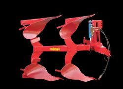 Red Hydraulic Reversible Plough, For Primary Tillage
