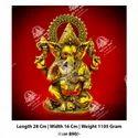 Polished Metal Kala Lord Ganesha God Statue