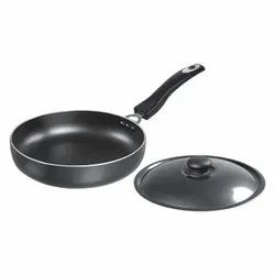 Round Fry Pan With Stainless Steel Lid