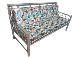 Modern Polyester Stainless Steel Three Seater Sofa, Living Room, 5 Inch