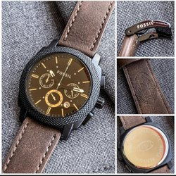 Brown FOSSIL FS4656 Machine Analog Watch - For Men, Size: Free
