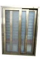 Polished 2 Section Aluminium Sliding Window, For Home, Office And Hotel