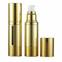 Airless Bottle 15ml 30ml 50ml Plastic Cosmetic Aluminum Airless Lotion Pump Bottle Packaging