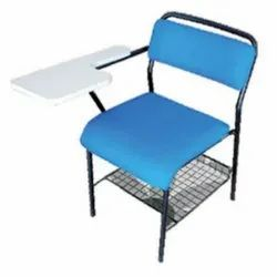 Blue Student Writing Pad Chair.