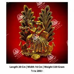 Worship Metal Kala Radha Krishna God Statue