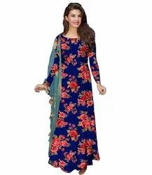 Ritsila Polyester Women's Fit And Fancy Floral Long Sleeve Dress, Handwash