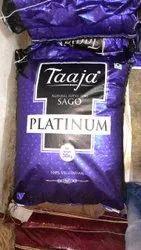 White 30 Kg Taaja Platinum Natural Super Fine Sago, Packaging Type: Plastic Bag