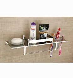 Edge Stainless Steel 4 In 1 Bathroom Wall Self