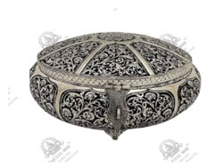 Flower Round Silver Plated Artifacts