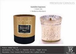 Gilded Tulip Jar Premium Candles