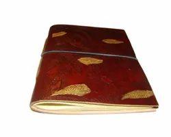 Leaf Embossed Handmade Leather Journal