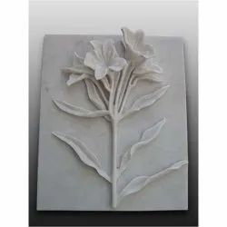 Carved Polished Decorative Marble Tile, For Wall, Size/Dimension: 2 Feet
