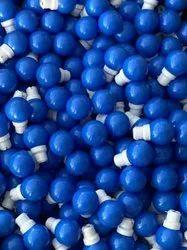 Plastic Round 0.5 Watt Blue Night Lamp Bulb, For Home