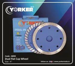 Dual Flat Cup Wheel 2in1 4