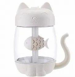 Qawachh 3 In 1 Mini USB Air Humidifier Fan With LED Light And Fan Kitty