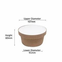 250ml Ripple Kraft Container With Lid