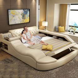 Multifunction Bed Furniture Storage Bed Furniture Sets With Usb Charing Speaker
