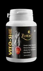 Women Libido Increaser Zenon Vito She Capsule, Grade Standard: Medicine Grade, Packaging Type: Bottel