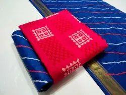 Shivkrupa Enterprise 10 colour Single Pure Cotton Batik Print Embroidery Work Suit, For Dailywear