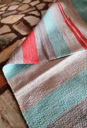Gray Cotton Carpet Durries, Size: 3x12 (custom Size)