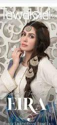 Multicolor Pakistani Cotton Lawn Suits, Size: Free