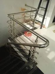 Stairs Pipe Stainless Steel Indoor Staircase Railing