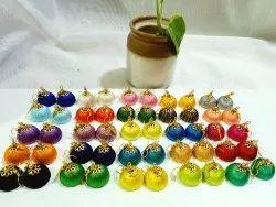 Silk Thread Jhumka Earrings