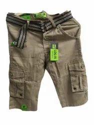 Brown Plain Men Cargo Shorts, Size: 30