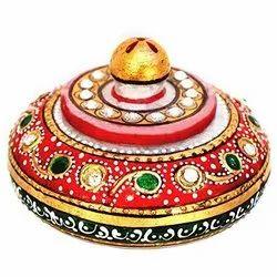 Handicraft Marble Kumkum Box