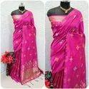 Party Wear Litchi Silk Saree
