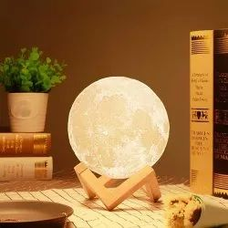 Moon Lamp Light For Bedroom,3D USB Rechargeable Moon Lamp Color Changing Sensor