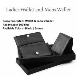 Black Ladies Wallet and Mens Wallet