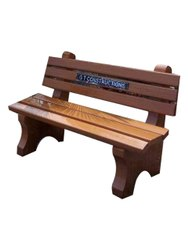 Without Arm Rest 3 Seater RCC Garden Bench, With Back
