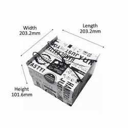 Half Kg Cake Box With Rope Handle (With Ribit)