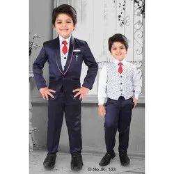 Lycra Cotton Black Boys Designer Suit, Size: 32.0
