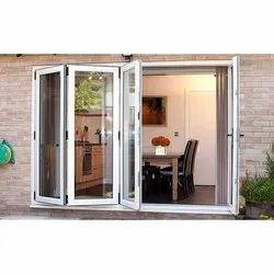 White Residential UPVC Casement Windows, UPVC Glass Hinged Window, Glass Thickness: 5mm