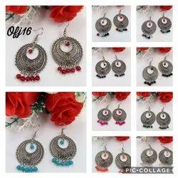 Oxidised Earring