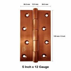 Atlantic Door Butt Hinges 5 inch x 12 Gauge/2.5 mm Thickness (Stainless Steel, Rose Gold Finish)