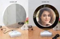Magic Mirror Photo Frame Round