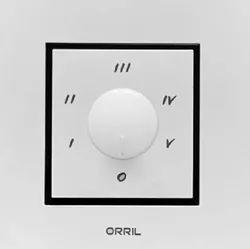 ORRIL White Stepped Fan Regulator, Number Of Modules: 1 & 2 Module