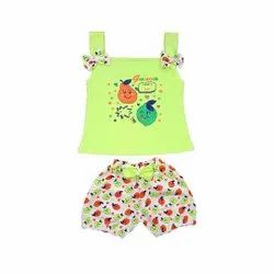 Sleeveless Top With Hot Pant For Baby Girls