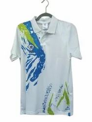 Vats Cricket Mens White Polyester Printed Sports T Shirt, Size: Small