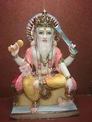 Marble Vishwakrma Statue