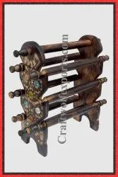 Wooden Eight Sticks Bangle Stand