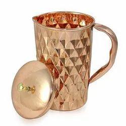 Pure Copper Jug Diamond Design