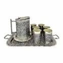 Silver Plated Glass Set With Tray & Jug For Corporate Gift