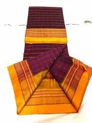 ILkal Embroidery Checks Pure Cotton Saree