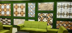 Square Digital SONFI CERAMIC Porcelain Floor Tile, Thickness: 8 - 10 mm, Size: Medium