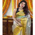 Soft Floral Print Silk Saree
